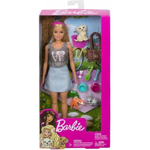 Barbie Bambola con Cuccioli...