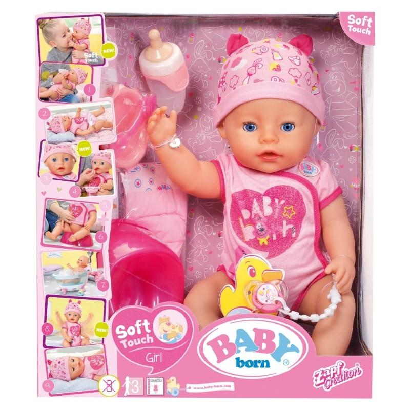 Bambola Baby Born, Girl Soft Touch Bambola 43 cm bby00000