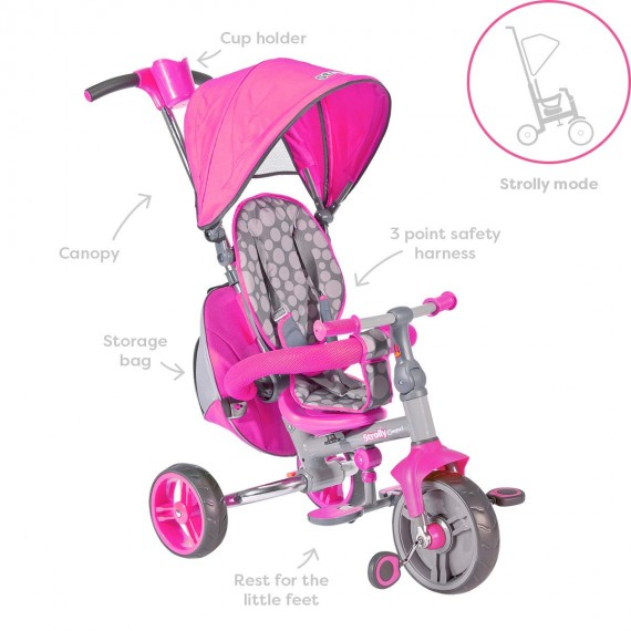 TRICICLO STROLLY ROSA 25338...