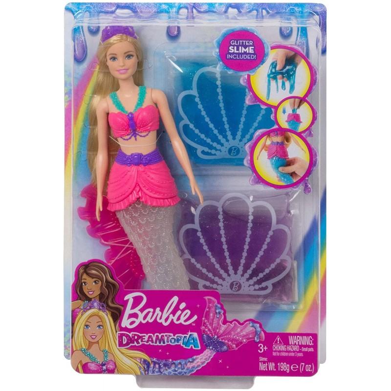 Barbie Dreamtopia Bambola Sirena con Slime mattel GKT75