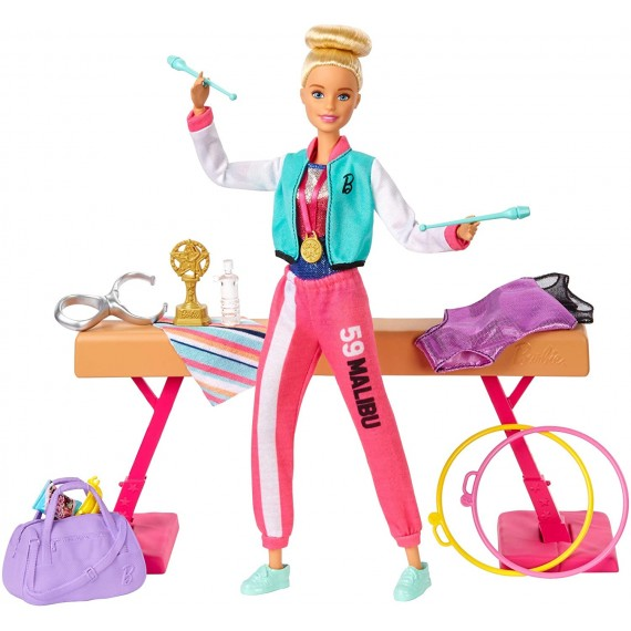 Barbie- Playset Ginnasta...